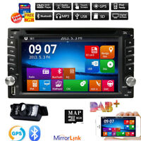 2Din HD Car Stereo DVD CD Player Bluetooth GPS Navigation With Rearview camera