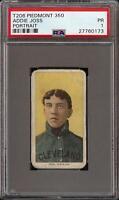 Rare 1909-11 T206 HOF Addie Joss Portrait Piedmont 350 Cleveland PSA 1