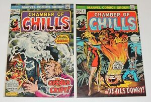 Marvel Comics CHAMBER of CHILLS #4 & #5   Both Super High Grade VF/NM