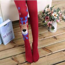 Kids Girls Cotton Christmas Elk Tights Socks Stockings Pants Hosiery Pantyhose