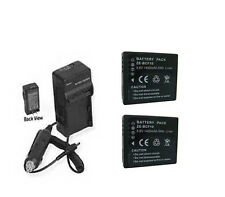 TWO 2 DMW-BCF10 DMW-BCF10E Batteries + Charger for Panasonic DMCFX66A DMCFX66N