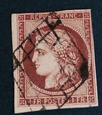 France N° 6b 1 F, Carmin Brun TB Aspect  Défaut