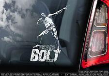 Usain Bolt-Coche Etiqueta De La Ventana-signo de los Juegos Olímpicos 100 M campeón-Jamaica