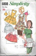 Vintage Simplicity 6808 ladies apron pot holder *no instructions pre-cut c.1966