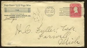 1904 Fort Wayne Indiana Page Woven Wire Fence Company Advertising Cover