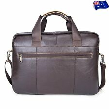 Men's Genuine Leather Messenger Shoulder Bag Satchel Laptop Briefcase Handbag