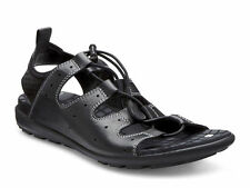 ECCO Womens Jab Sandal Black Leather 238013 51707 Shoes Size US 9-9.5 EU 40