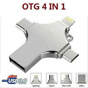 4 IN 1 OTG USB 3.0 Type C Flash Drive Memory Stick For iPhone iPad Android 1TB