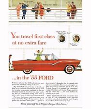 1955 Ford Sunliner Convertible Automobile Car art Vtg Print Ad