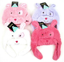 NWT Toddlers Children Winter Plush Animal Party Custom Cartoon Beanie Hat Bunny