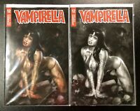 🚨🦇🔥 VAMPIRELLA #12 PARRILLO SET OF 2 Cvr A & 1:10 Ratio Incentive B&W Variant