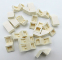 LEGO LOT OF 20 NEW WHITE SLOPE 45 1 X 2 WITH CUTOUT PIECES SLOPES