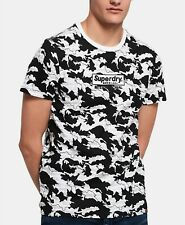 Mens Superdry International Monochrome Crew Neck Graphic T Shirt Tee L