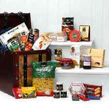 Large Wooden Captains Chest Christmas Hamper includes 30 Food Items