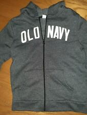 OLD NAVY - dark gray - Full Zip Up Hoodie Sweatshirt NWOT - Size L (Size 10- 12)