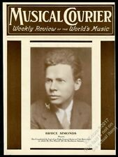 1934 Bruce Simonds pianist photo Musical Courier framing cover