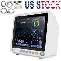 "12.1"" Portable Vital Signs Touch Screen Patient Monitor ECG NIBP RESP TEMP SPO2"