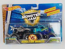 Hot Wheels 2018 Monster Jam Demolition Doubles Cyborg Shark vs Crushstation