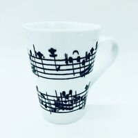ZRIKE Everyday Brands White Music Notes Coffee Tea Gift Mug