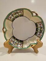 "Vintage Noritake 3 Handle Luster Bowl - Hand Painted Birds & Fruit  - Japan - 7"""