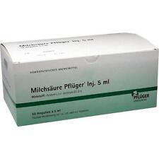 MILCHSÄURE Pflüger Injektionslösung 5 ml 50 St PZN 1222412