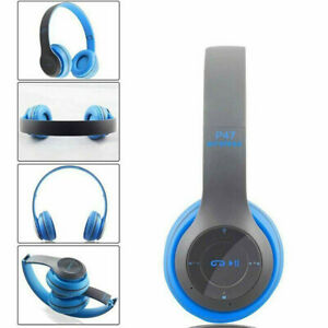 Bluetooth V5.0 Wireless Headphones Ear Foldable Stereo Noise Cancelling Headset