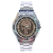 NEW MILITARY DIE PUNISHER SKULL Custom Chrome Men Wrist Watch Men's Watches