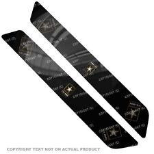 Saddlebag Reflector Decals For 14 Up  Harley - GOLD ARMY STAR - 060