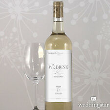 24 Classic Script Personalized Wedding Wine Bottle Labels