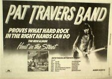 PAT TRAVERS BAND Heat in The Street 1977 UK Poster size Press ADVERT 16x12""