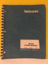Tektronix 070 1305 01 Tm 503 Power Module Instruction Manual