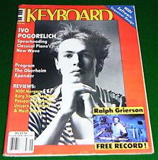 1986 KEYBOARD Magazine w-Soundpage: IVO POGORELICH, Program The Oberheim Xpander