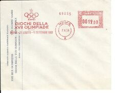 Olympic Games 1960 Rome 1958 meter stamp cover NATONAL COMMITTEE /giochi della