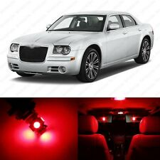 10 x Brilliant Red LED Interior Light Package For 2005 - 2010 Chrysler 300 300C