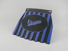 Vespa Blue and Black Stripe Mudflap Hard Rubber Type.. New!!