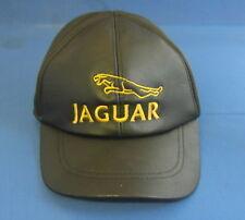 JAGUAR Pelle Nera PAC con cucitura Leaping Gatto Logo cap4
