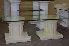Couchtisch Wohnzimmertisch Tische Säulentisch Fernsehtisch Griechisch Glas Tisch