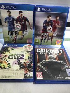Ps4 Games Bundle 4 Total : Plants Vs Zombies GW2, BLACK OPS III 3, FIFA 15 + 16