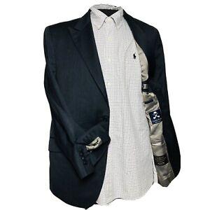 Oliver Wicks Grey 2 Btn Double Vent Wool Silk Blazer w/ Surgical Sleeve Size 42R