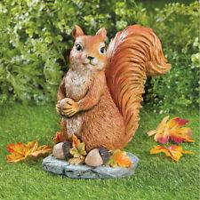 Charming Sammy The Squirrel w/ Acorns Outdoor Garden Statue