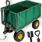 KESSER® Bollerwagen 550kg Transportwagen Gartenwagen Gerätewagen Handwagen NEU <br/> ✓ Innenplane ✓ Luftbereifung ✓ Gitterablage ✓ bis 550kg