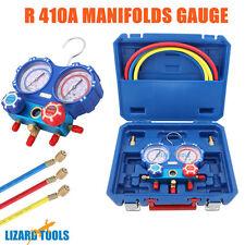 "Genuine Air Manifold Gauge Tool set R410a Refrigeration 1/4"" 5/16"" Adaptor"