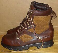Ralph Lauren Polo Dennison brown/tan Leather Boots. size 8 D