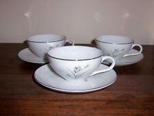 Creative Royal Elegance - Fine China of Japan - 3 Cup & Saucer Sets