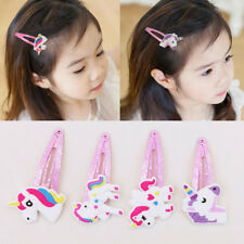 1Pair Cartoon Unicorn Kids Girls Hair Clips BB Clips Hairpins Hair Accessories