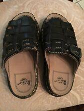 Vintage DR MARTENS Black  Woven Buckle Sandals Womens Sz 8 Slides Thailand 5A57