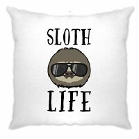 Novelty Animal Cushion Cover Sloth Life Pun Slogan Joke Lazy Sleepy Cute