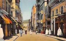 Constantine Algeria scenic view La Rue Georges-Clemenceau antique pc Y10967