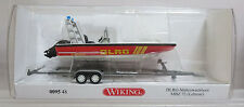 Wiking 9548 Lehmar MZB72 Multi-Purpose Boat w/ Trailer DLRG Rescue Assembled NOS
