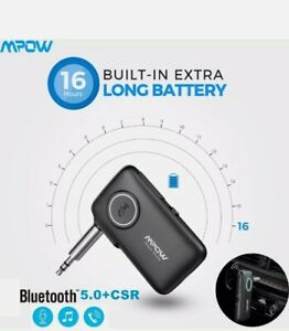Mpow Wireless Bluetooth V5.0 Receiver AUX 3.5mm Car  Music Audio Stereo Adapter